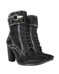 AllSaints - Black Heeled Damisi Boot - Lyst