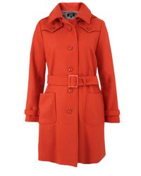 A.P.C. | Manteau Clara Orange Coat for Men | Lyst