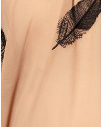 ASOS Collection - Natural Asos Maternity Exclusive Feather Embroidered Blouse - Lyst