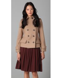 Club Monaco | Natural Lori Short Pea Coat | Lyst