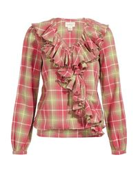 Denim & Supply Ralph Lauren | Pink Long Sleeve Ruffle Top | Lyst
