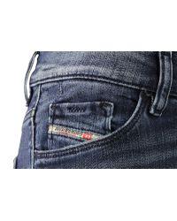DIESEL | Blue Hi-vy Slim Straight Faded Denim Jeans | Lyst