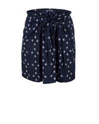 Farhi by Nicole Farhi | Blue Embroidered D3ab5 Navy Skirt | Lyst