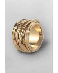 French Connection | Metallic Wrap Around Ring | Lyst