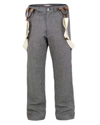 Heritage Research | Blue Stripe Denim Work Pants for Men | Lyst