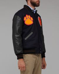 Heritage Research - Blue Tigers Varsity Jacket for Men - Lyst