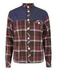 Humor   Red Bjarke Check Shirt for Men   Lyst