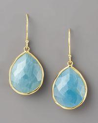 Ippolita - Blue Aquamarine Teardrop Earrings - Lyst