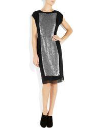 Jonathan Saunders | Black Allery Sequined Silk-georgette Dress | Lyst