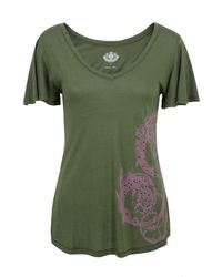 Juicy Couture | Camouflage Green T-shirt | Lyst