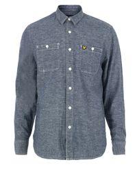 Lyle & Scott | Blue -v22 Light Chambray Shirt for Men | Lyst