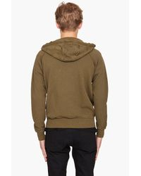 McQ - Green Felpa Hoodie for Men - Lyst