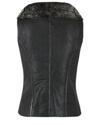 Muubaa | Gray Bronson Black Leather Gilet for Men | Lyst