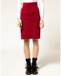 American Apparel - Black Pencil Skirt - Lyst
