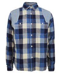 Nigel Cabourn | Medical Blue Mix Shirt for Men | Lyst