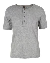 Nudie Jeans | Gray Henley Grey T-shirt for Men | Lyst