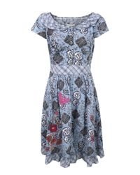 Odd Molly | Blue 631 Damask Mid Indigo Dress | Lyst