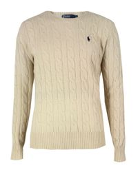 Polo Ralph Lauren | Natural A42 Cream Cable Knit for Men | Lyst