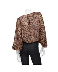 Rachel Zoe - Multicolor Silk Cropped Dolman Sleeve Blouse - Lyst
