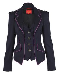 Vivienne Westwood Red Label | Blue Navy Waistcoat Jacket | Lyst