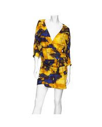 Thakoon Addition | Blue Abstract Print Wrap Dress | Lyst