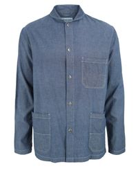 Universal Works | Blue Indigo Chambray Summer Deck Jacket for Men | Lyst
