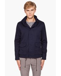A.P.C. | Blue Vest Militaire Capuche Navy Jacket for Men | Lyst