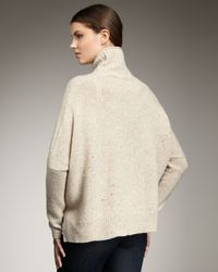Vince | Natural Boxy Knit Sweater, Oatmeal | Lyst