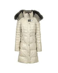 FORZIERI - Natural Beige Quilted Leather Coat - Lyst