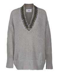 Day Birger et Mikkelsen | Gray Talita Crochet Knit Sweater | Lyst