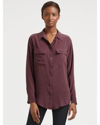 Equipment | Purple Silk Signature Blouse | Lyst