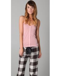 Juicy Couture | Pink Pointelle Button Down Cami | Lyst
