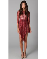 Lover | Brown Serpent Lace Dress | Lyst