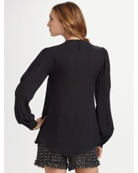 Oscar de la Renta | Black Cropped Tweed Jacket | Lyst