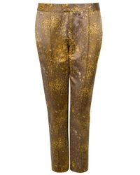 SUNO | Metallic Satin Skinny Pants | Lyst