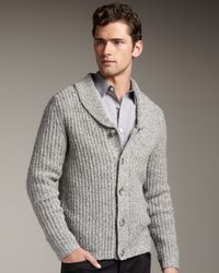 Theory | Gray Shawl-collar Cardigan for Men | Lyst