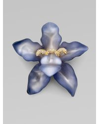Alexis Bittar - Blue Large Orchid Pin - Lyst
