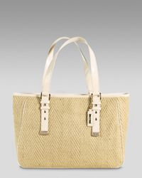 Cole Haan | Metallic Kendra Straw Tote | Lyst