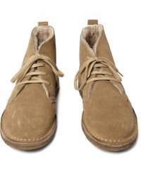 J.Crew | Natural Shearling-lined Suede Macalister Boots for Men | Lyst