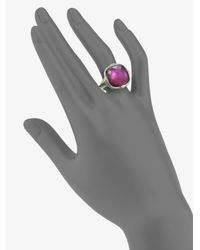Judith Ripka - Metallic Pink Corundum, Mother-of-pearl & Sterling Silver Doublet Ring - Lyst