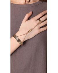 Low Luv by Erin Wasson - Metallic Hammered Hand Bracelet - Lyst