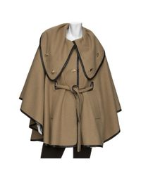 Rachel Zoe | Brown Leather Trim Cape | Lyst