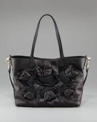 Valentino | Black Rosebud Large Tote | Lyst