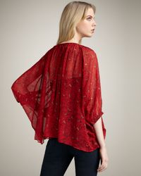 Winter Kate - Multicolor Tiger Lily Blouse, Crimson - Lyst