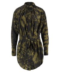 Bolongaro Trevor | Cheetah Print Masala Black Silk Shirt | Lyst