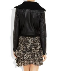 By Malene Birger | Black Pauli Detachable-collar Leather Biker Jacket | Lyst