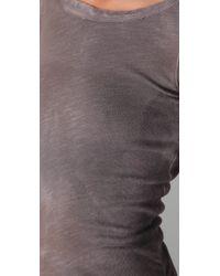 Dolan - Gray Shirred Side Mini Dress - Lyst