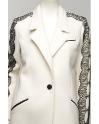 Jason Wu | White Lace-trim Car Coat | Lyst