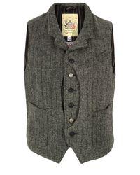 Monitaly | Gray Grey Harris Tweed Hunting Vest for Men | Lyst