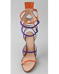 Proenza Schouler | Red Multi Color High Heel Sandals | Lyst